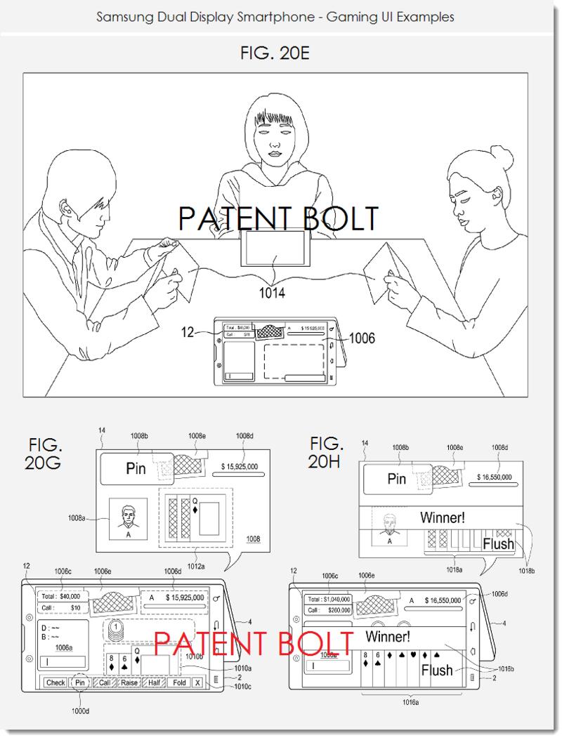 5. Samsung dual display smartphone patent filing - gaming UIs