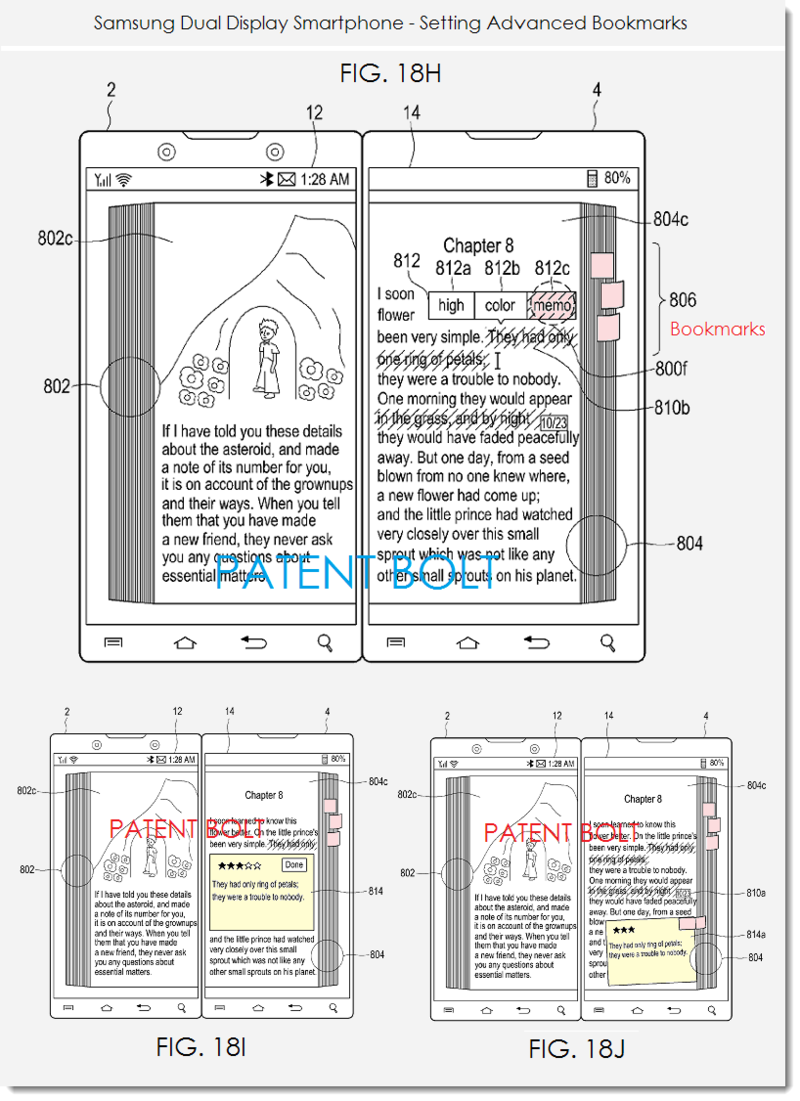3. Samsung patent figurers 18H, i, j - setting advanced bookmarks