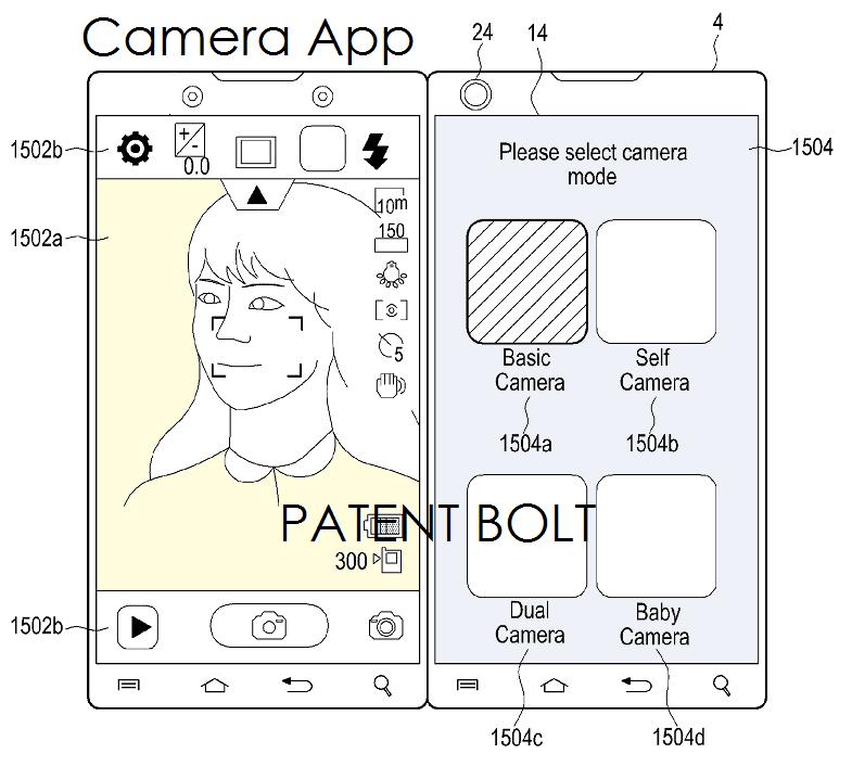 7. Samsung dual display Phone - Camera UI example - fig. 25a