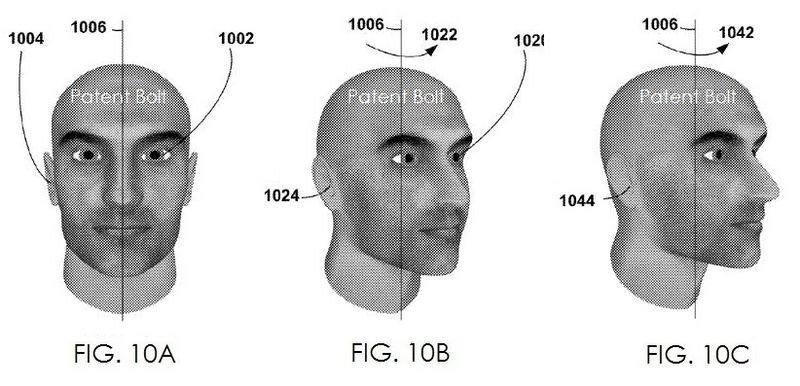 4. Google patent facial landmarks figs. 10a,,b,c
