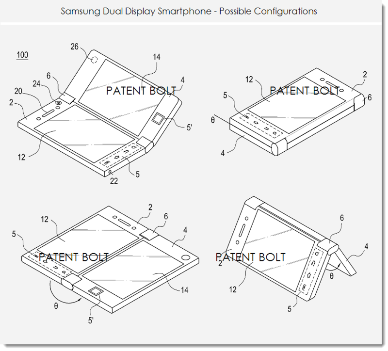 1BB - Samsung dual display smartphone  -  possible configurations