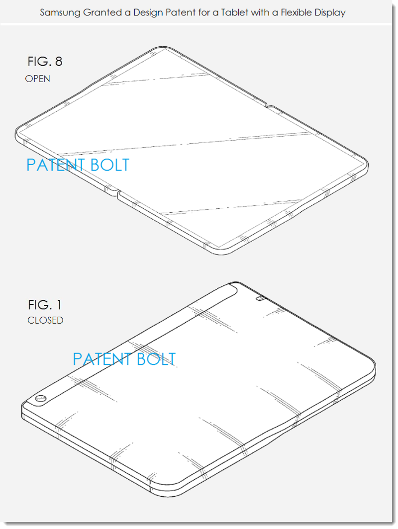 2. Samsung design patent Dec 31, 2013 - tablet with flex display