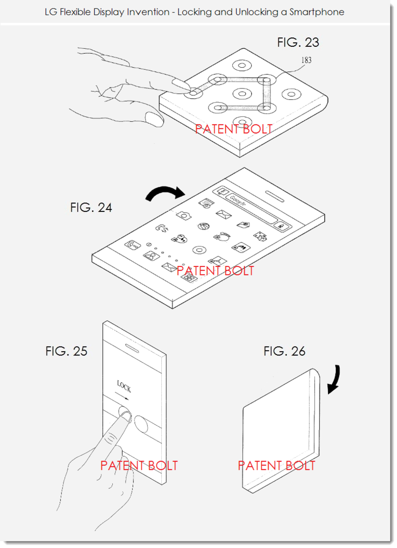 8. LG FLEX DISPLAY PATENT - LOCK, UNLOCK A SMARTPHONE