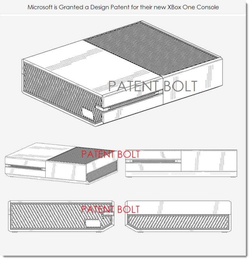 2. MSFT XBOX ONE - GRANTED DESIGN PATENT BY USPTO FEB 25, 2014