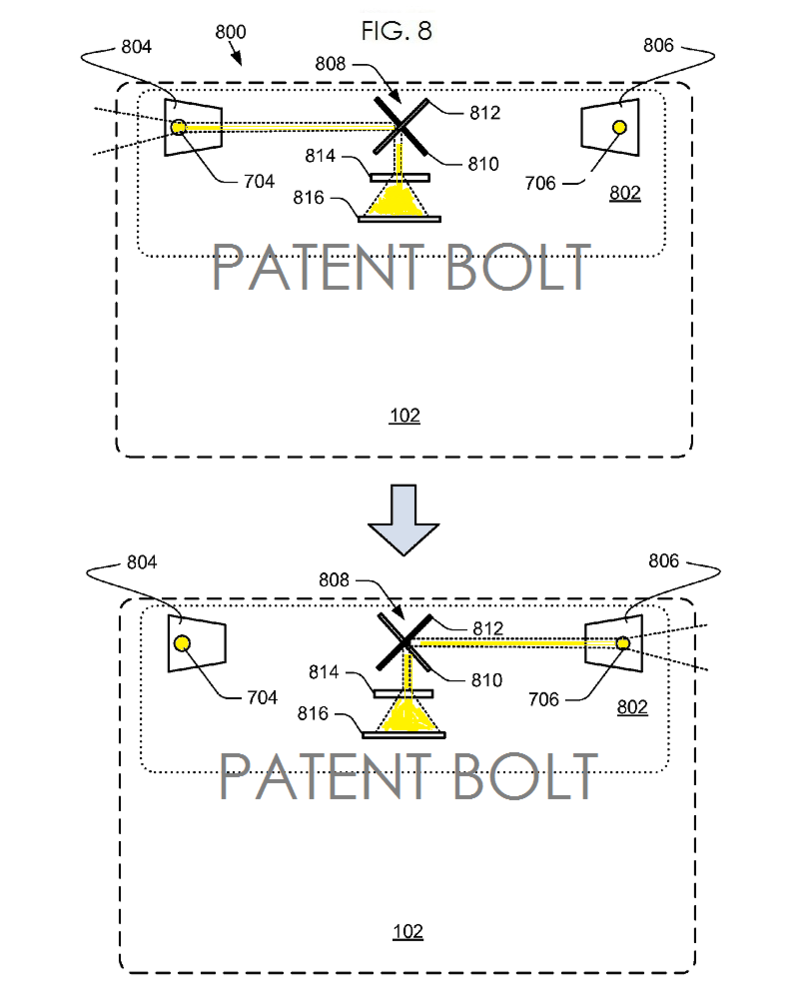 3. MSFT PATENT FIG 8 DUAL CAMERA FOR TABLETS