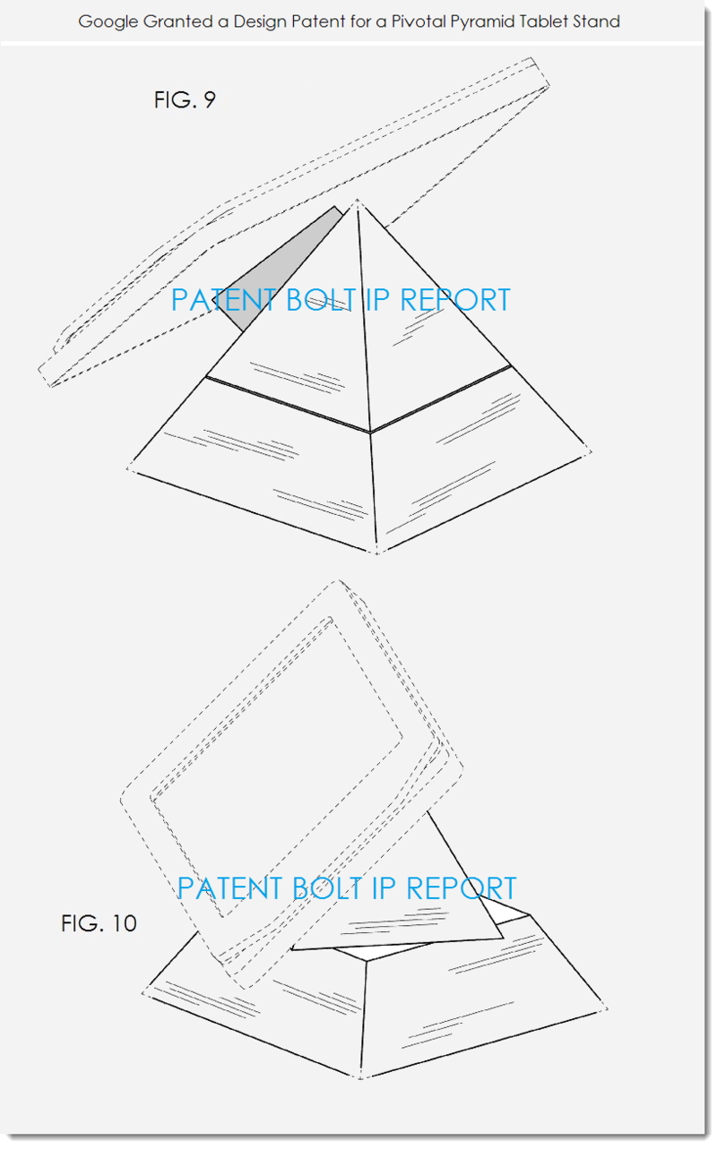 3. Google granted a patent for pivotal pyramid tablet stand figs. 9 & 10
