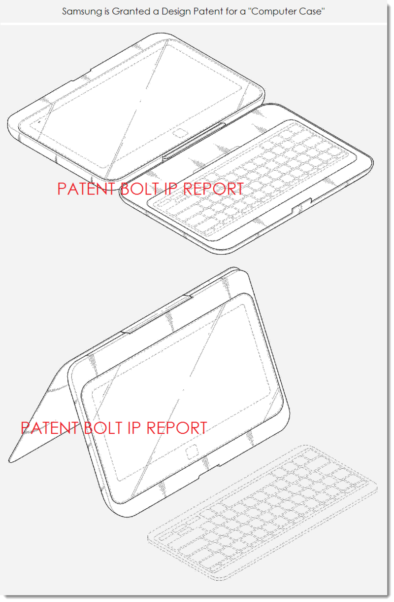3. Samsung granted a design patent for a computer case figs. 8 and 9