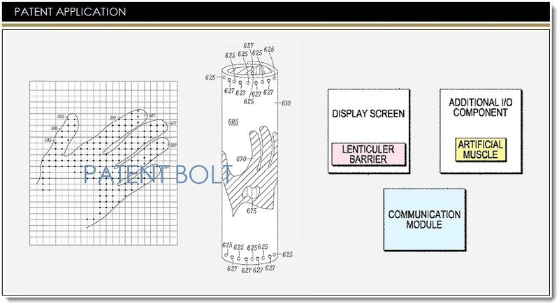 1. Cover graphic, Motorola Patent for illuminating flex display device