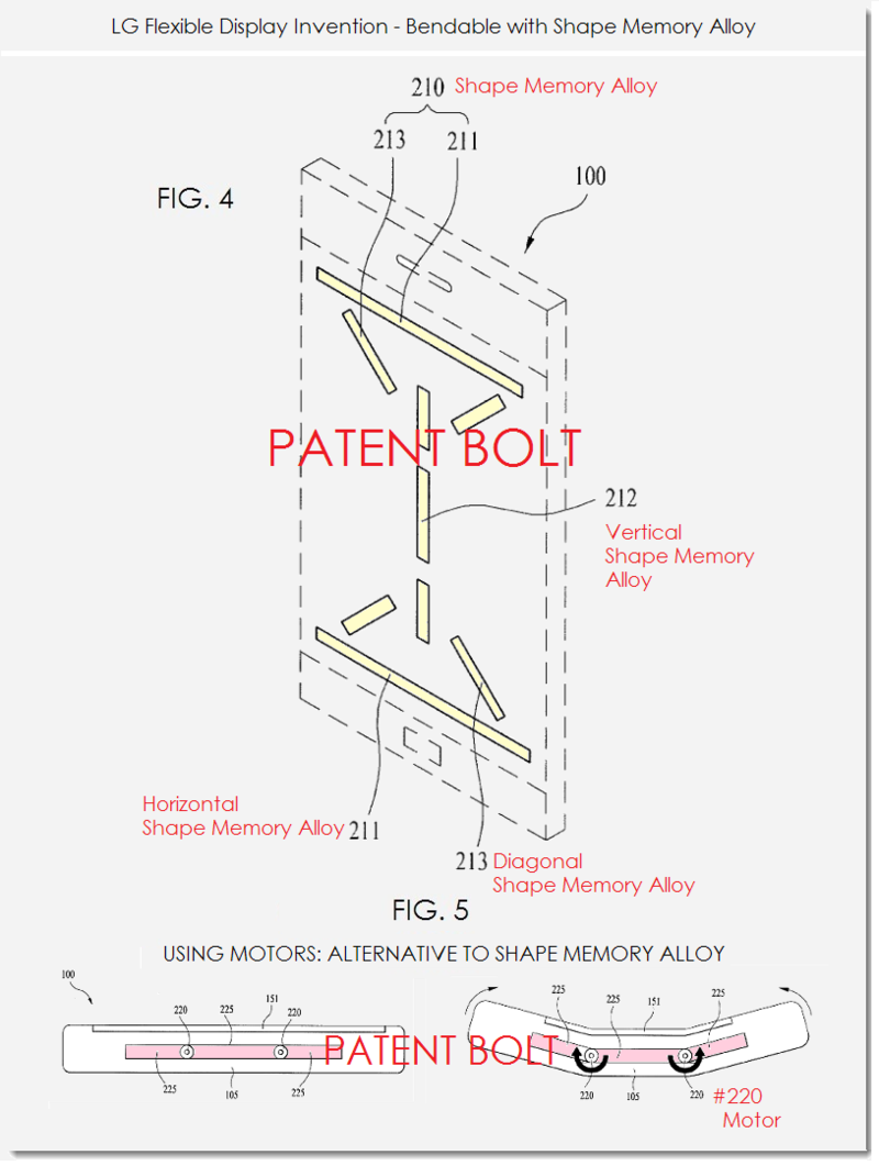 2AA. LG PATENT FIGS 4, 5 BENDABLE SHAPE MEMORY ALLOY