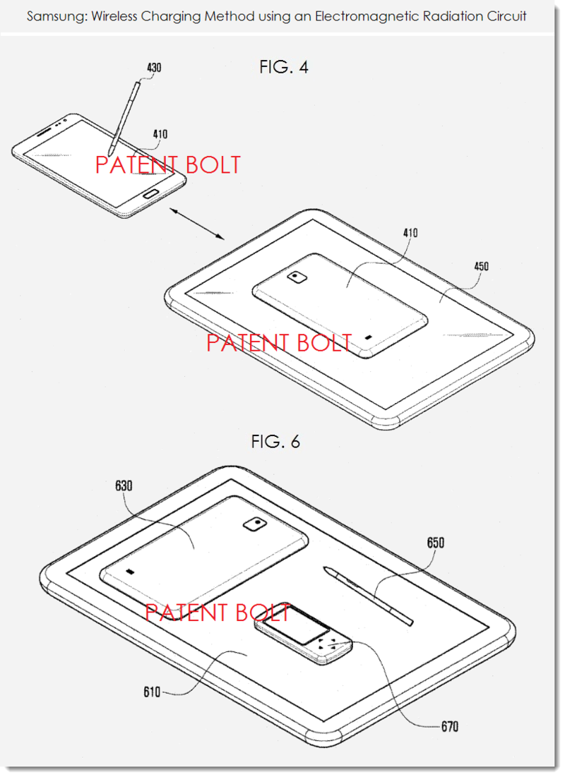 3. Samsung patent application for wireless charging with EMR circuit