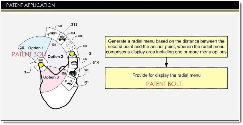 1. Google - Radial Menus Patent application Mar 13, 2014
