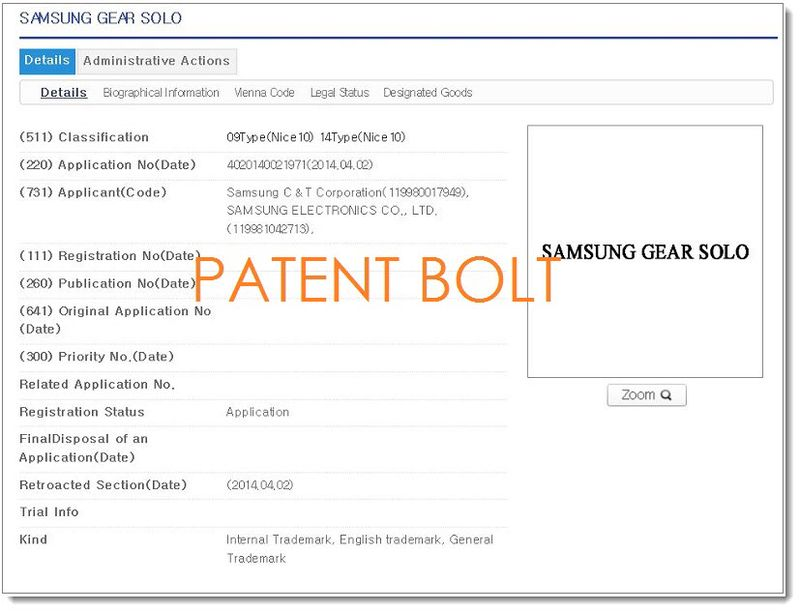 2F PB. Korean IP Office application for Samsung Gear Solo April 02, 2014