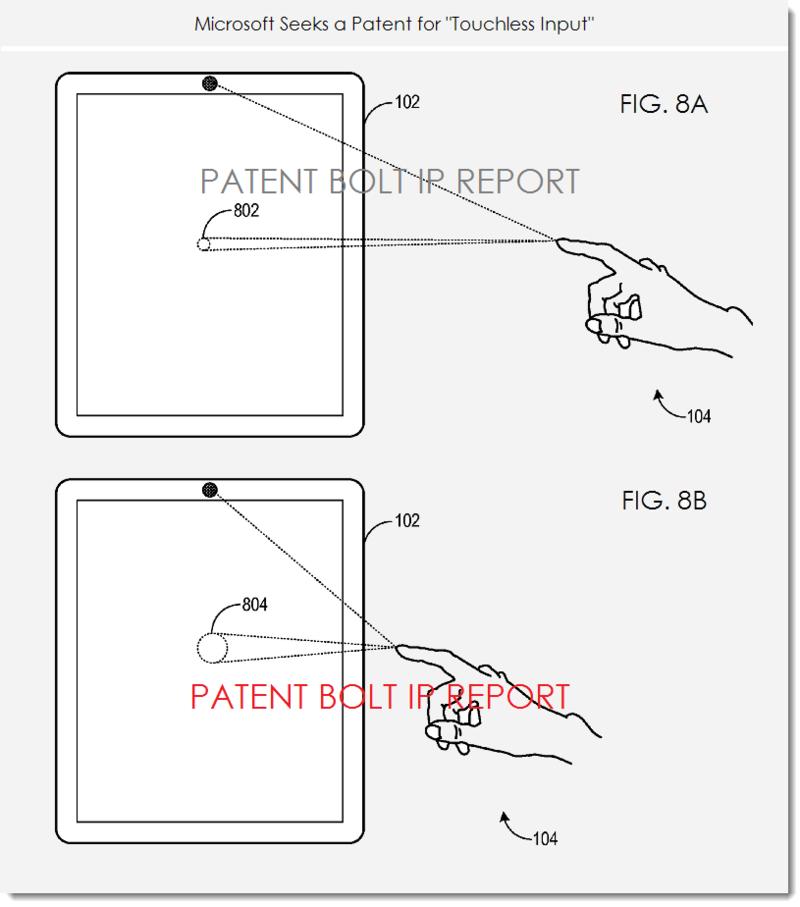 6. MSFT patent figs 8a,b touchless input