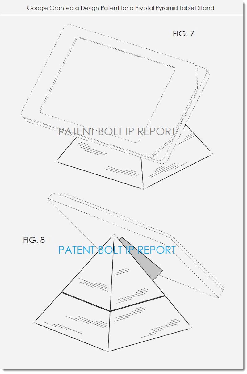 2. Google granted a patent for pivotal pyramid tablet stand figs. 7 & 8