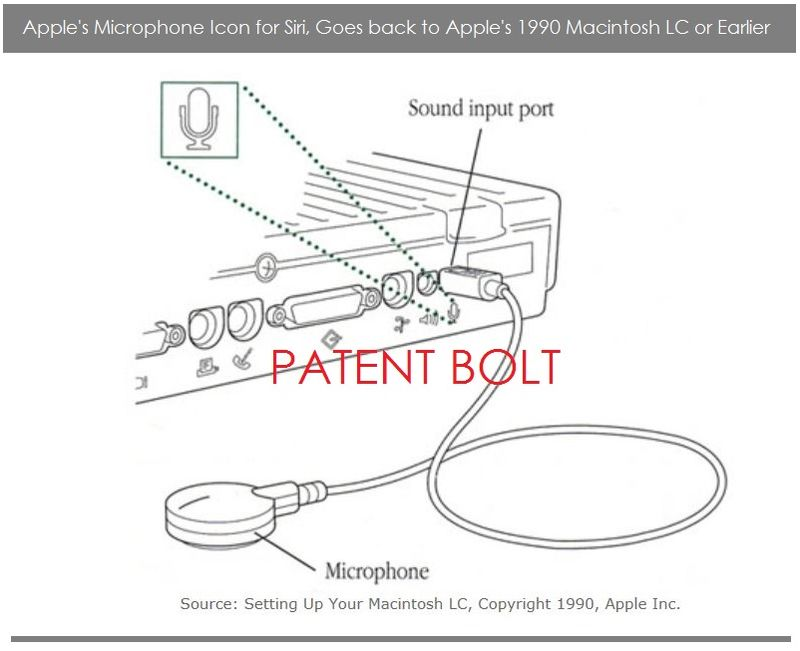 3. EXTRA - PATENT BOLT  Apple's Microphone logo goes back to Macintosh LC