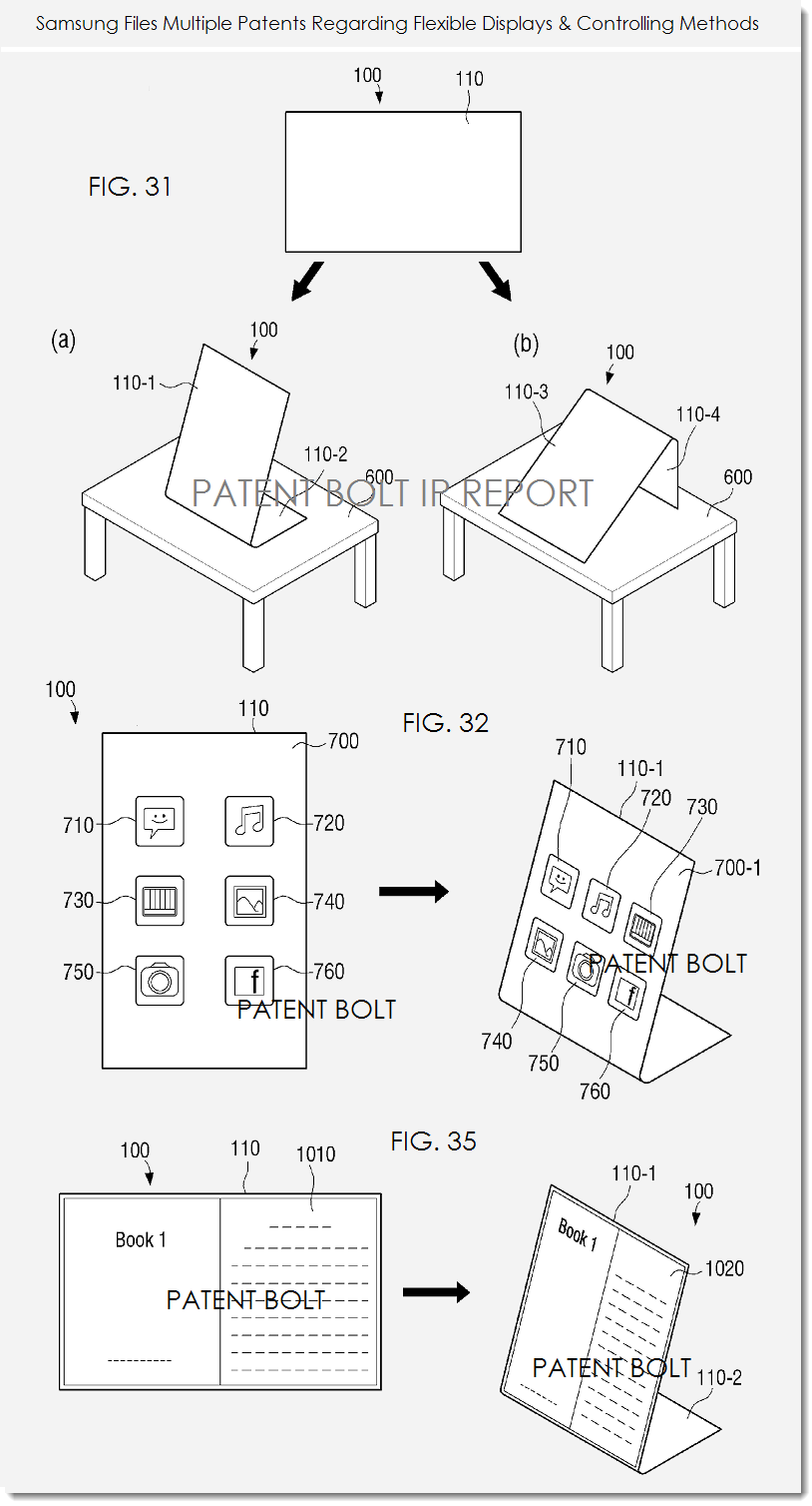samsung invents a smart cubed device that uses a polygonal 3d ui and 22 Inch Samsung LED 4af samsung flex display methods patent a