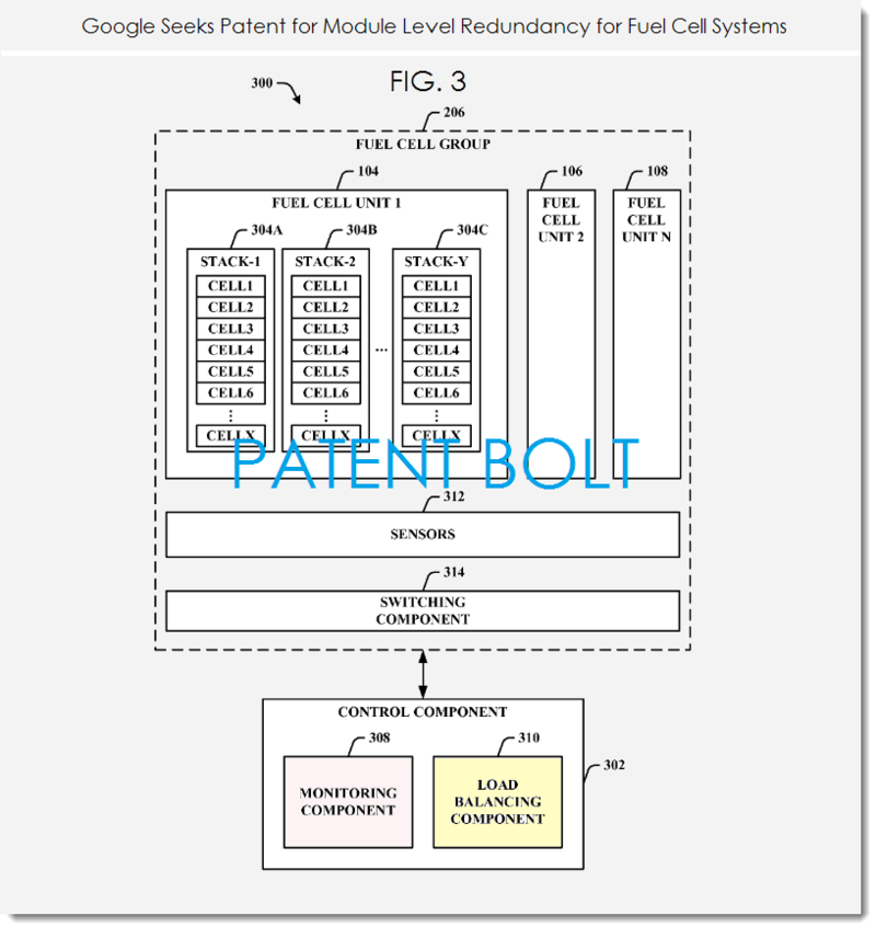 3. Google fuel Cell patent FIG. 3