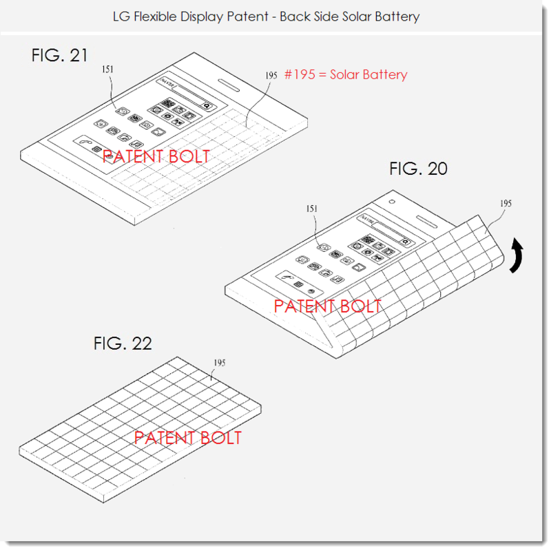 7. LG FLEX DISPLAY PATENT - A SMARTPHONE wiith back side solar battery