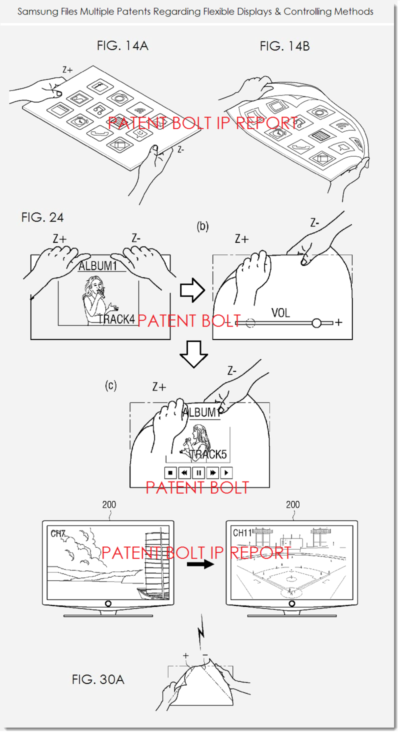 7AF - SAMSUNG FLEX DISPLAY PATENT C - VARIOUS CONTROLS FIGS. 14AB, 24, 30A