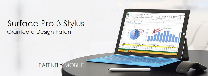 1AF MSFT COVER GRAPHIC, SURFACE PRO 3 STYLUS GRANTED DESIGN PATENT