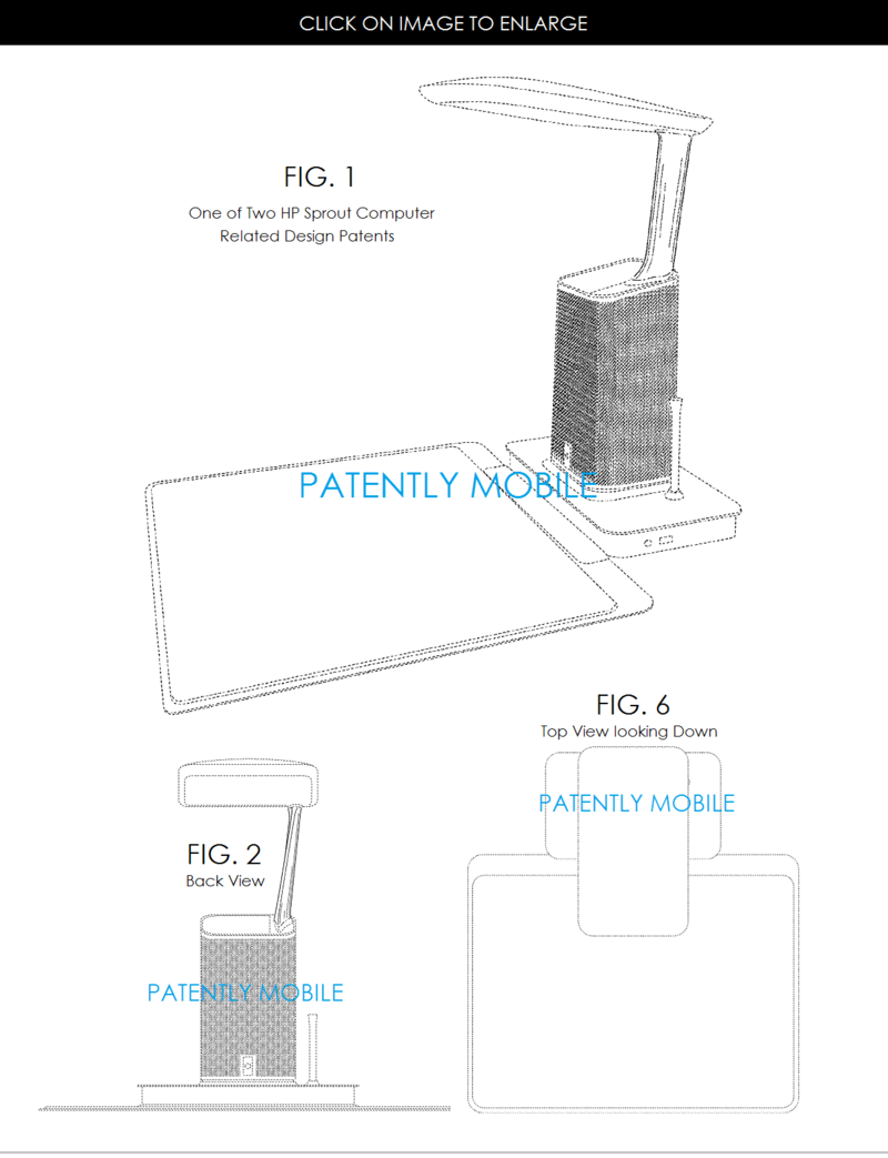 3.1 HP SPROUT DESIGN PATENT - STYLE #1 APR 2015 - PATENTLY MOBILE