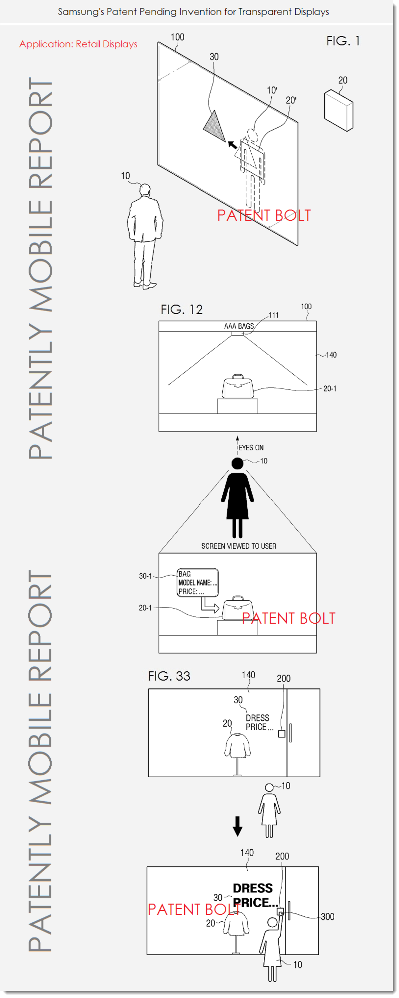 4 AF PATENTLY MOBILE SAMSUNG PATENT REPORT ON RETAIL WINDOW GLASS