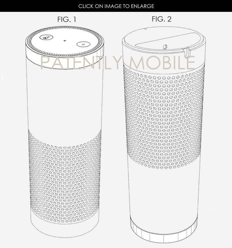3af X99 AMAZON GRANTED DESIGN PATENT FOR ECHO