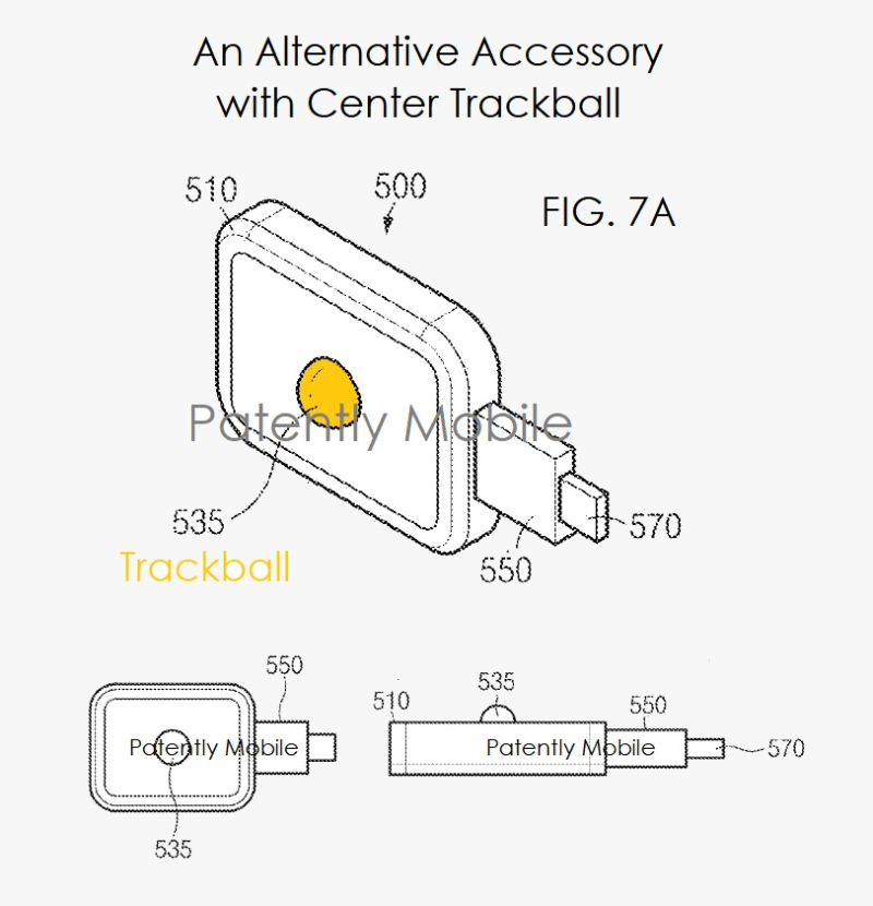 5 AF X 99 SAMUNG ACCESSORY ALTERNATIVE WITH TRACKBALL FIGS 7A  7B  7C - PATENTLY MOBILE