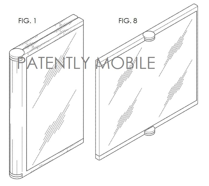 5AF -SINGLE FOLD - SMARTPHONE DESIGN PATENT SAMSUNG FIGS. 1 AND 8