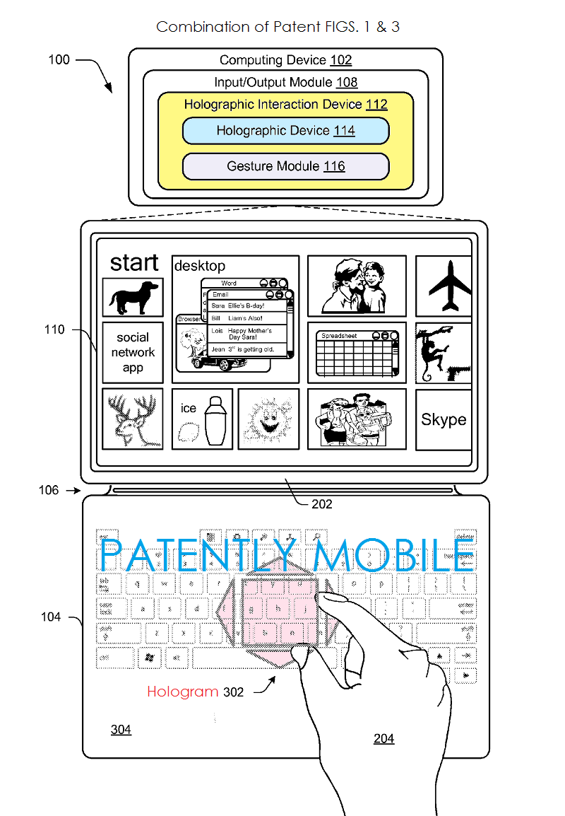 2AF 55 PATENTLY MOBILE - MSFT HOLOGRAM PATENT
