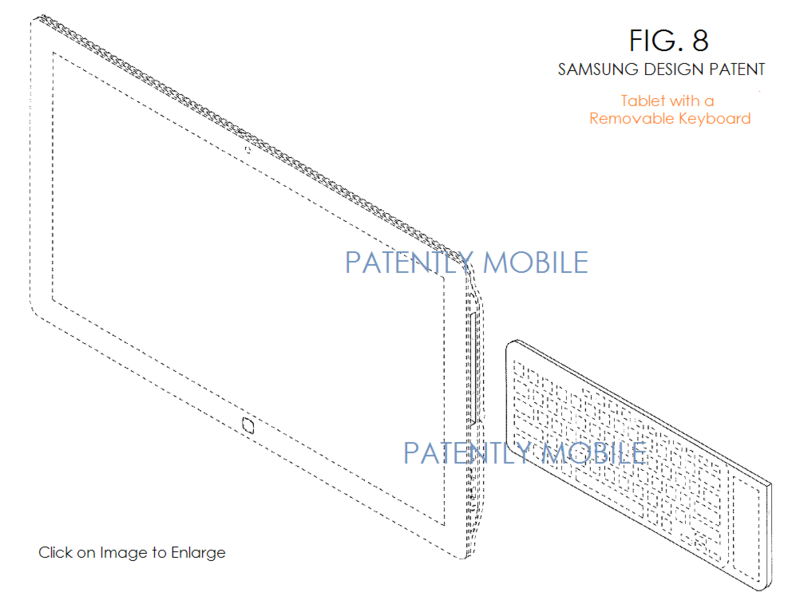 2AF 55 SAMSUNG TABLET DESIGN PATENT WITH BUILT-IN KEYBOARD
