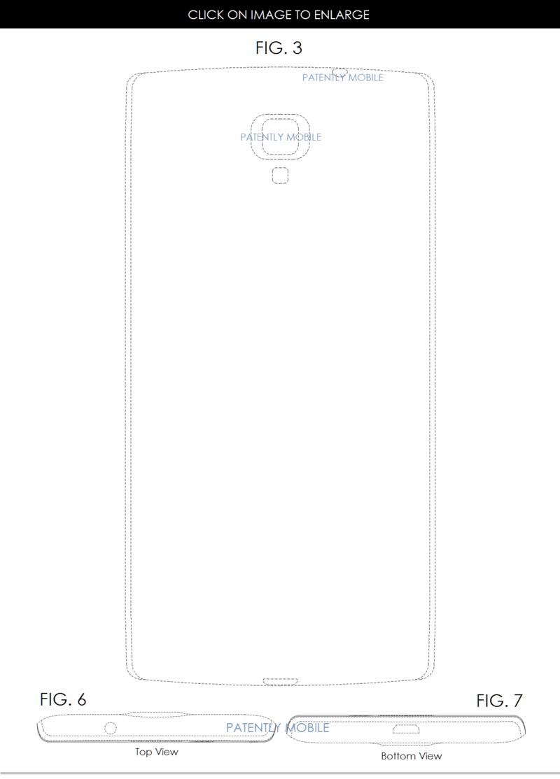 5AF 55 BACKSIDE, TOP & BOTTOM VIEWS - SAMSUNG PHONE DESIGN PATENT