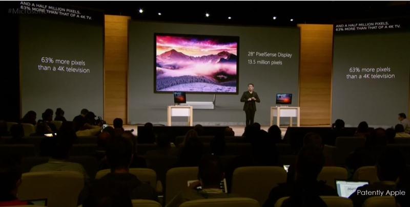 7af msft surface studion 63 percent more pixels that a 4k tv