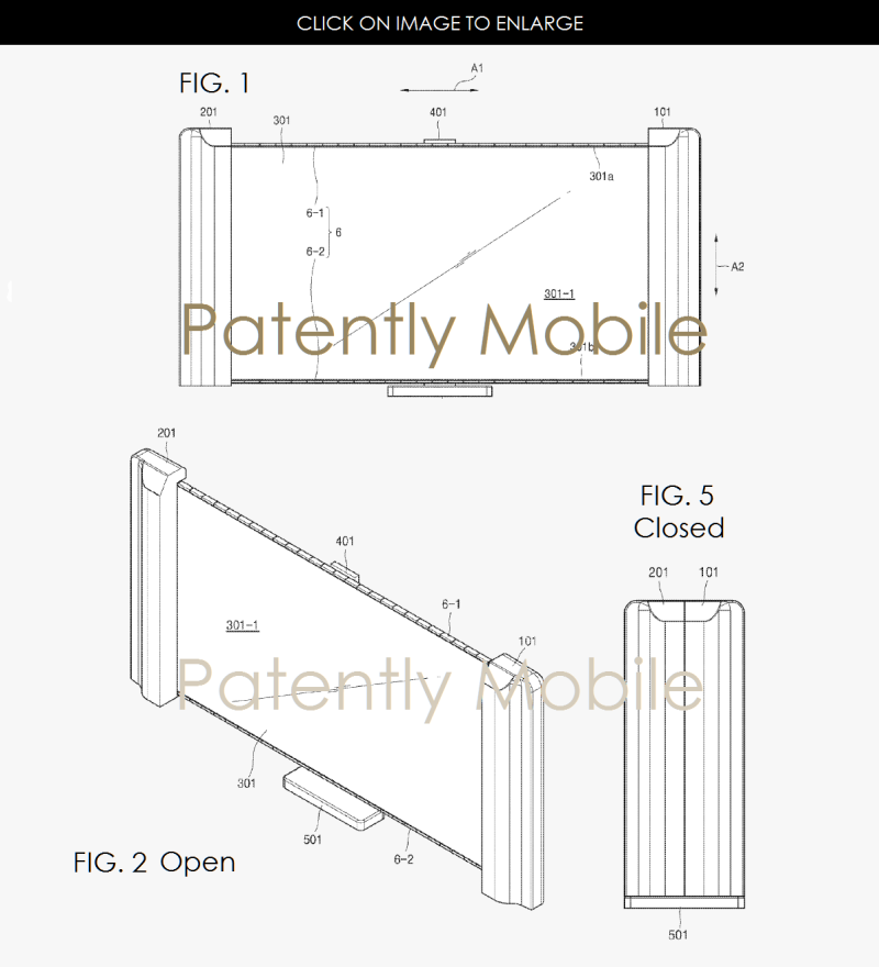 6af 99 samsung scrollable TV patent application