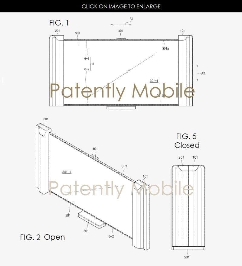 6af 99 samsung scrollable TV patent application