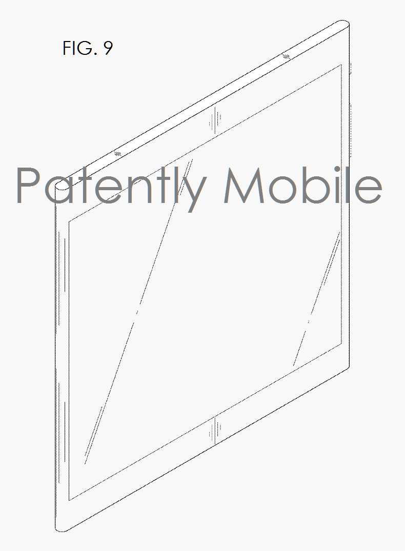 5AX 99 FIG. 9 FOLDABLE SMARTPHONE SAMSUNG PATENT