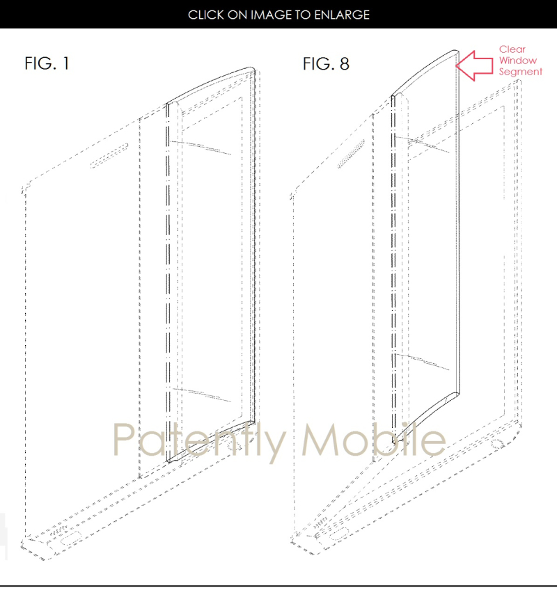 4af 88 samsung figs. 1 and 8 folding smartphone design patent