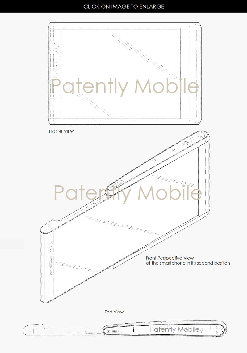 5AX 99 SLIDE OUT DISPLAY SAMSUNG DESIGN PATENT SMARTPHONE FEB 2017