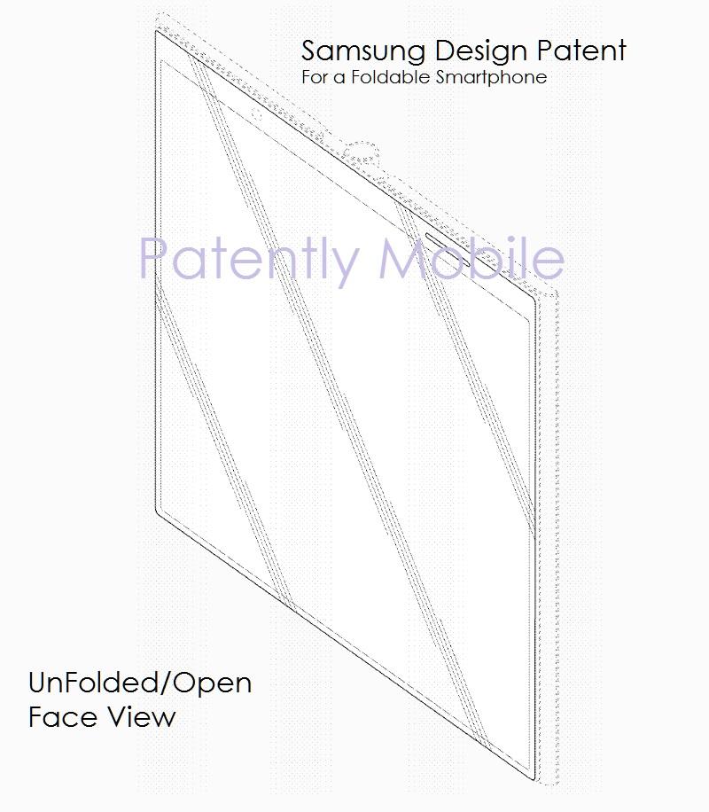 4af x99 Samsung foldable smartphone design patent