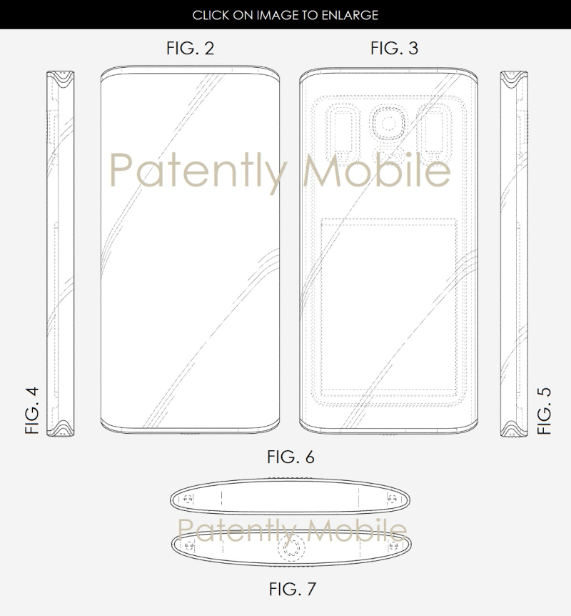 5 X99 SAMSUNG SMARTPHONE DESIGN WITH CAMERA BEHIND BACK PANEL