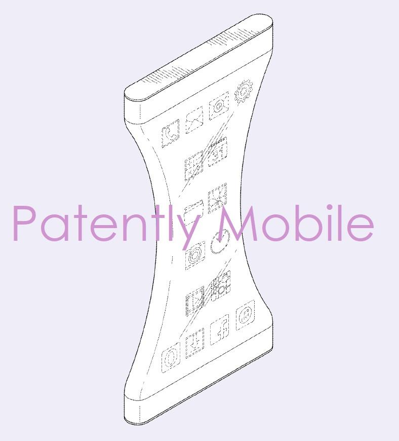 7AF X99 SAMSUNG DESIGN PATENT FOR AN ABSURD SMARTPHONE