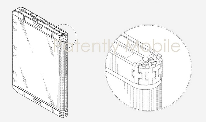 1 Cover Samsung fold out phone design patent