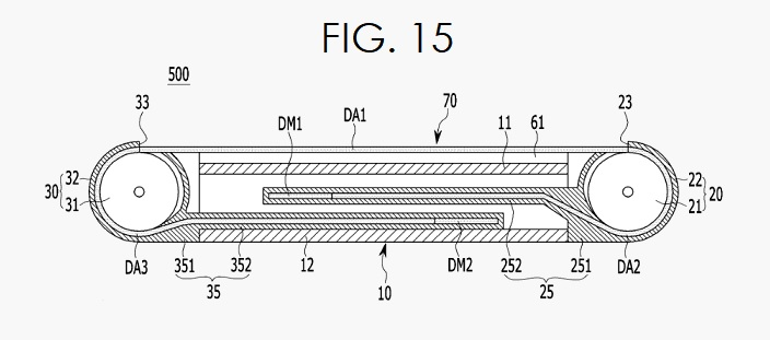 3 SAMSUNG PATENT FOR SMARTPHONE WITH EXPANDABLE DISPLAY FIG. 15