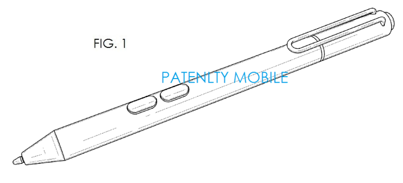 3AF MSFT SURFACE PRO 3 STYLUS GRANTED DESIGN PATENT