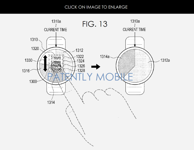 5AF FIG. 13 SAMSUNG GEAR, ROUND, NEW SCHEDULE - CALENDAR SYNC APP PATENTLY MOBILE REPORT JAN 2015