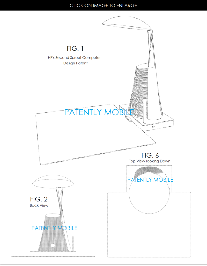 4AF 55  - HP SPROUT DESIGN PATENT #2 - PATENTLY MOBILE, APR 2015