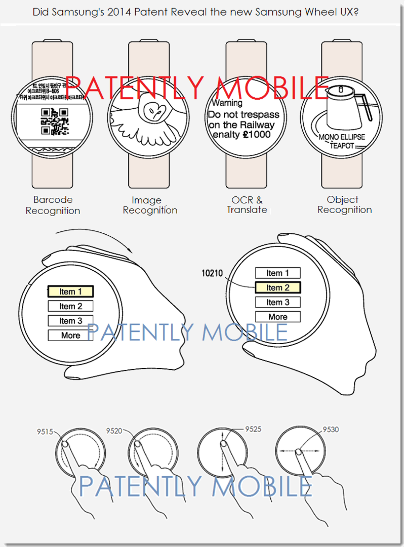 5AF - IMAGES FROM SAMSUNG'S PATENT FOR A NEW ROUND GUI