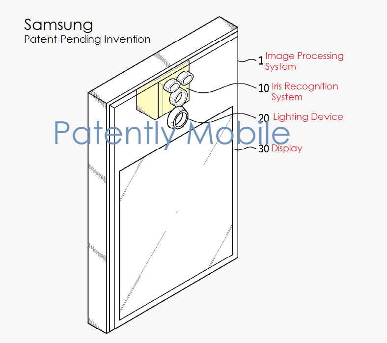 2AF 55 patently mobile version - samsung IRIS CAMERA patent