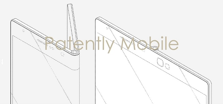 1af cover fold-out smartphone design by Samsung