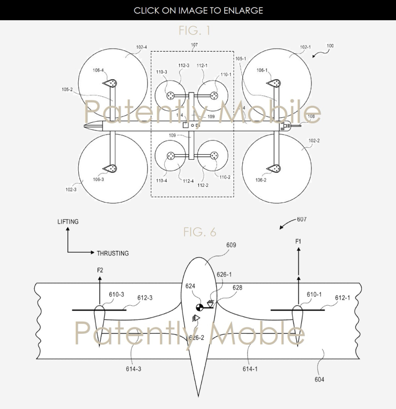 2AF X 99 AMAZON UAV PATENT FIGS 1 AND 6